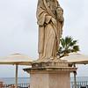 Statue of São Vicente de Fora in the Alfama area of Lisbon