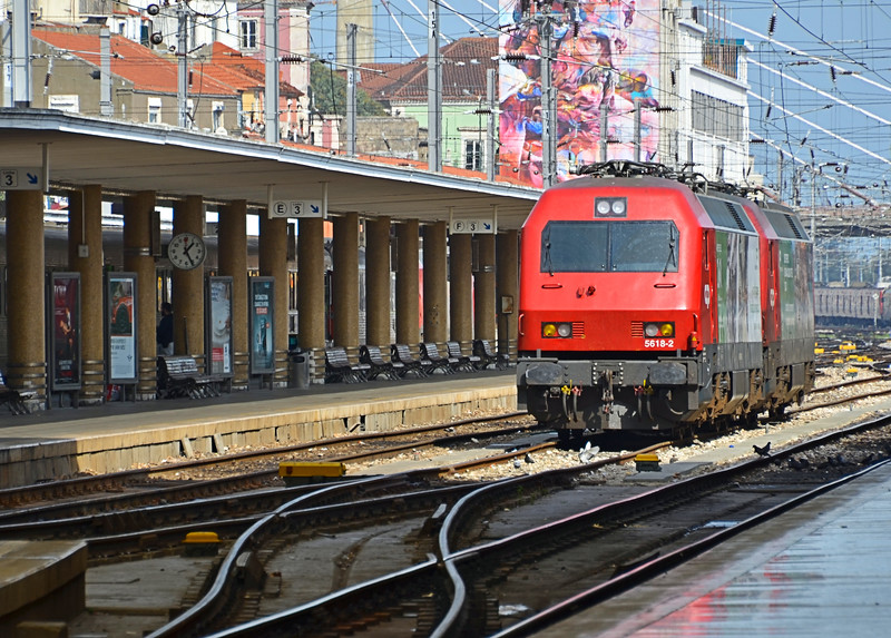 Regional train in Lisbon