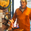 Chorizo flamed tableside in Lisbon