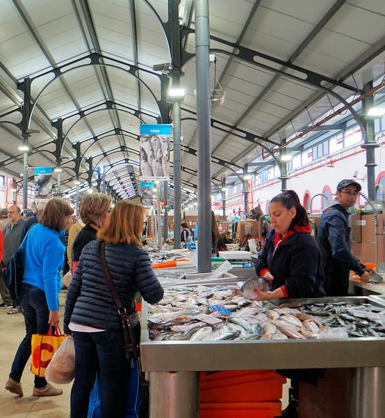 Fish stall at Loulé Market