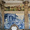 Azulejo tiles in São Bento train station
