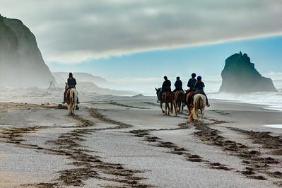 Riding Irish Beach