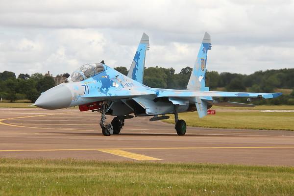 Sukoi Su-27UB Flanker Fairford 18/07/19