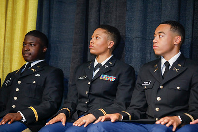 Spring commissioning ceremony for 10 ROTC cadets becoming 2nd Lieutenants in the Army, Thursday, May 16, 2019.