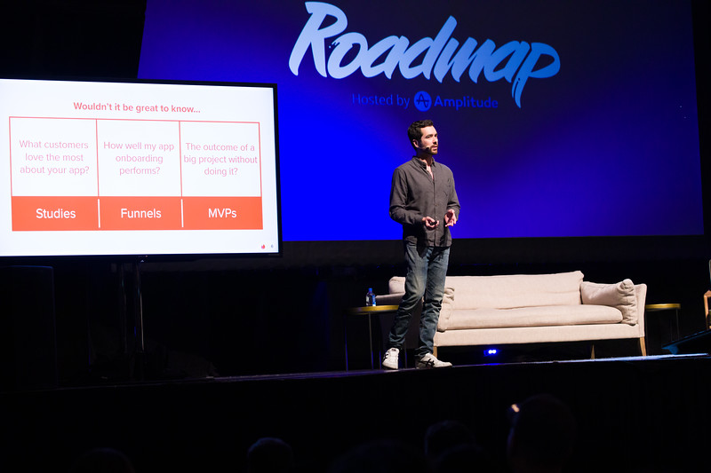 RoadMap SF Amplitude @Amplitude_HQ #roadmap Nick Saretzky @nsarz director of product @tinder  formerly head of product @okcupid. Show Sponsors @womenpm @Optimizely & @segment