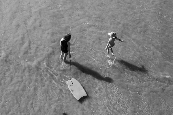 Jumping Over Waves - Emmy and Scarlett