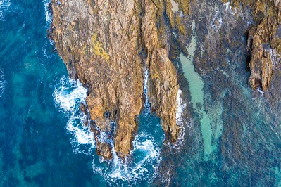 Aerial Abstract - The South Rosedale Rocks from Above