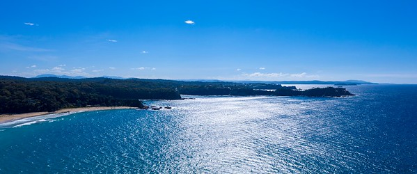 North to Bateman's Bay - View from High Above the Ocean at South Rosedale