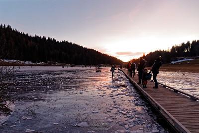 29-12 Coucher de soleil sur le lac de Lamoura