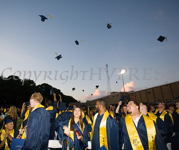 Newburgh Free Academy graduates celebrate after receiving their diplomas during the 154th Commencement Exercises for the graduating Class of 2019 on Academy Field in the City of Newburgh, NY on Tuesday, June 25, 2019. Hudson Valley Press/CHUCK STEWART, JR.