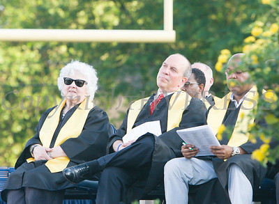 Members of the Newburgh Enlarged City School Disctict Board of Education listen to speakers during the Newburgh Free Academy 154th Commencement Exercises for the graduating Class of 2019 on Academy Field in the City of Newburgh, NY on Tuesday, June 25, 2019. Hudson Valley Press/CHUCK STEWART, JR.