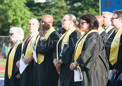 Members of the Newburgh Enlarged City School Disctict participated in the Newburgh Free Academy 154th Commencement Exercises for the graduating Class of 2019 on Academy Field in the City of Newburgh, NY on Tuesday, June 25, 2019. Hudson Valley Press/CHUCK STEWART, JR.