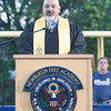 Newburgh Free Academy Main Campus Co-Principal Raul Rodrigeuz offers the Welcome for the 154th Commencement Exercises for the graduating Class of 2019 on Academy Field in the City of Newburgh, NY on Tuesday, June 25, 2019. Hudson Valley Press/CHUCK STEWART, JR.