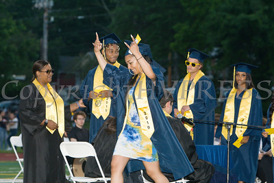Newburgh Free Academy students receive their diplomas during the 154th Commencement Exercises for the graduating Class of 2019 on Academy Field in the City of Newburgh, NY on Tuesday, June 25, 2019. Hudson Valley Press/CHUCK STEWART, JR.