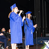 """PHS Seniors perform """"You Will Be Found"""" during the Poughkeepsie High School 147th Commencement Exercises for the graduating Class of 2019 on Friday, June 28, 2019 in Poughkeepsie, NY. Hudson Valley Press/CHUCK STEWART, JR."""