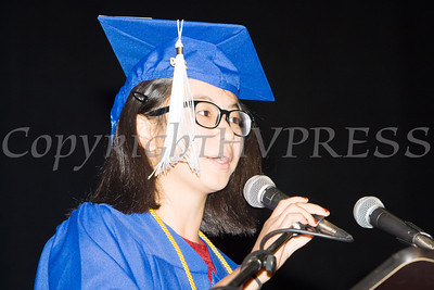 Poughkeepsie High School Salutatorian Victoria Horner offers remarks to those in attendence for the 147th Commencement Exercises for the graduating Class of 2019 on Friday, June 28, 2019 in Poughkeepsie, NY. Hudson Valley Press/CHUCK STEWART, JR.