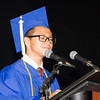 Minh Chau gives the Valedictory Address for the Poughkeepsie High School 147th Commencement Exercises for the graduating Class of 2019 on Friday, June 28, 2019 in Poughkeepsie, NY. Hudson Valley Press/CHUCK STEWART, JR.