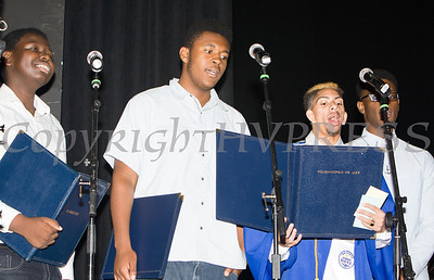 Poughkeepsie High School students perform a musical number during the 147th Commencement Exercises for the graduating Class of 2019 on Friday, June 28, 2019 in Poughkeepsie, NY. Hudson Valley Press/CHUCK STEWART, JR.