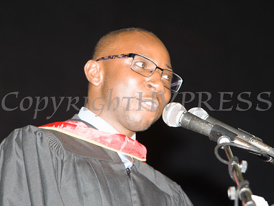 Alhassan Susso was the Keynote Speaker for the Poughkeepsie High School 147th Commencement Exercises for the graduating Class of 2019 on Friday, June 28, 2019 in Poughkeepsie, NY. Hudson Valley Press/CHUCK STEWART, JR.