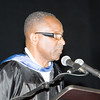 Poughkeepsie High School Acting Principal Ronald Jackson offers the Principal's Welcome for the 147th Commencement Exercises for the graduating Class of 2019 on Friday, June 28, 2019 in Poughkeepsie, NY. Hudson Valley Press/CHUCK STEWART, JR.