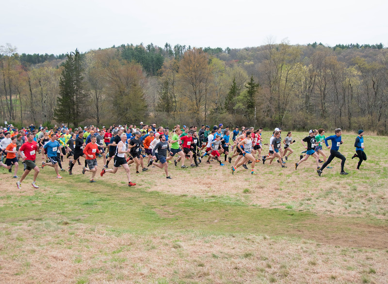 Start of the 2019 Leatherman's Loop in the Meadow at Ward Pound Ridge Reservation April 28, 2019. (photo by Sawyer Cummings)