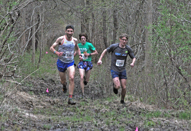 Top 3 Men battle in the Mud Flats. Will McDonough, Eamonn Sullivan, and Lucas Meyer. (photo by Zoe Wegener)