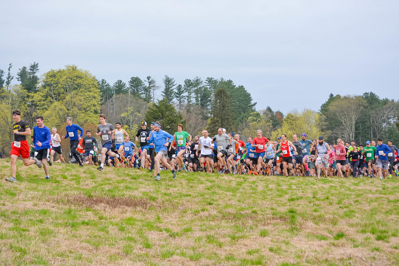 Start of the 2019 Leatherman's Loop in the Meadow at Ward Pound Ridge Reservation April 28, 2019. (photo by Diane Bradsell)