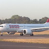 Swiss Airbus A220-300 (Bombardier C-series) HB-JCE at London Heathrow on a Geneva flight, 18.09.2019.