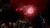 Fireworks enlarged