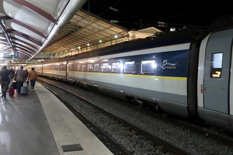 A Eurostar Class 374 Siemens Velaro set at Paris Gare Du Nord, 04.09.2019.
