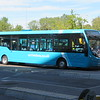 Newly repainted and previously Cannock-based Arriva Wright Streetlite FJ64EVG 3305 at Bletchley bus station on the 5, 13.09.2019.