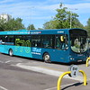 Arriva Scania Wright Solar KE55CTU 3602 at Bletchley bus station on the F77 to Luton, 13.09.2019.