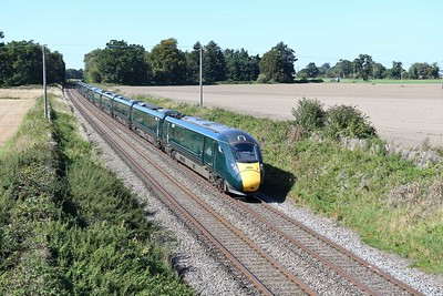 18 September 2019 :: Passing Manningford Bruce is IET 802 008 working 1A81, the 0741 from Penzance to Paddington