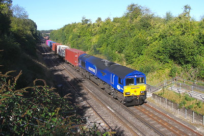 66142 Popham 20/09/19 4O21 Tarfford Park to Southampton Western Docks
