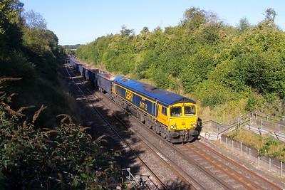 66712 Popham 20/09/19 4Y19 Mountfield to Southampton Western Docks