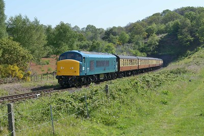 16 May 2019 :: 46010 has just emerged from Bewdley Tunnel while working the 1040 from Kidderminster to Bridgnorth