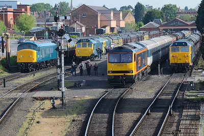 16 May 2019 :: A busy scene at Kidderminster 46010 25185+33108 60095 50035