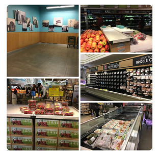 Scenes from the cleaned-out grocery stores
