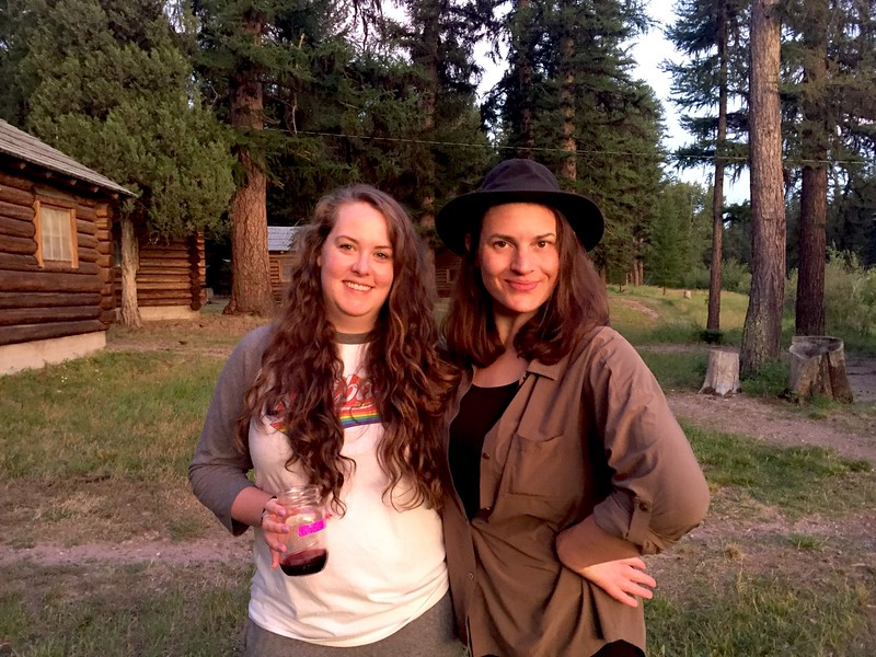<b>Zoë and Sara</b> <br>Seeley Lake, MT <br>July 26, 2019