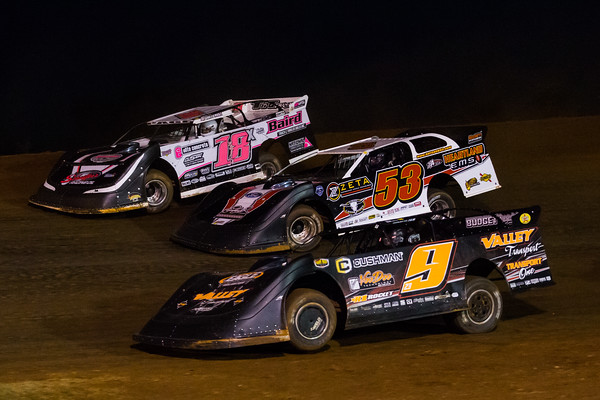 Michael Page (18X), Ray Cook (53) and Cory Hedgecock (9)