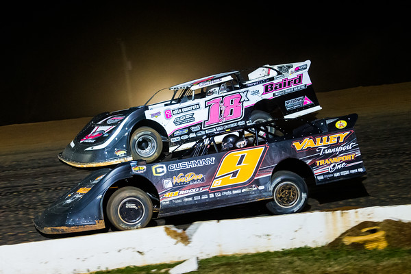 Cory Hedgecock (9) and Michael Page (18X)