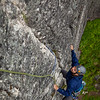 """Sam moves up on the first pitch of """"Toto"""" 5.7, an area classic."""