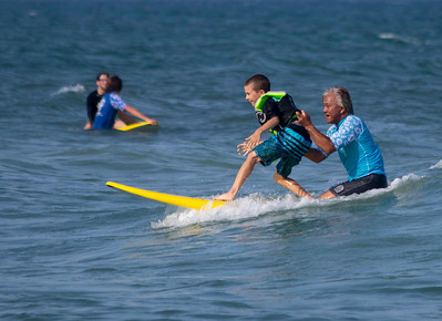 Indo Jax Surf Charities 12th annual visually impaired surf camp took place at Wrightsville Beach, N.C. Wednesday, July 17, 2019. The three-day camp involved more than 40 families and concludes on Thursday. The non-profit will hold a fundraiser this Saturday at Liberty Tavern from 1 p.m. – 6 p.m. for their surf therapy programs. [HALEY FRANCE/STARNEWS]