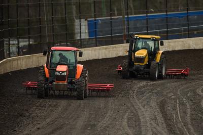 Volusia Speedway Park track prep