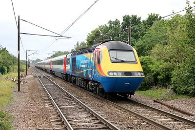 43081_43050 1341/1Z25 Leeds-Derby EMT Staff Special (11 Year Anniversary) passes Welwyn North