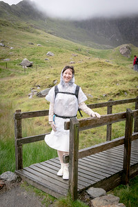 Jasmijn and party heading for the other side of the Snowdon horseshoe