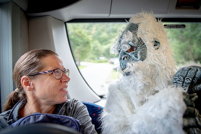 But Dr Mike outdid him, with his full-length yeti costume!