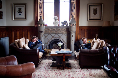 Although not born to it, my brothers rapidly became comfortable in the castle environment