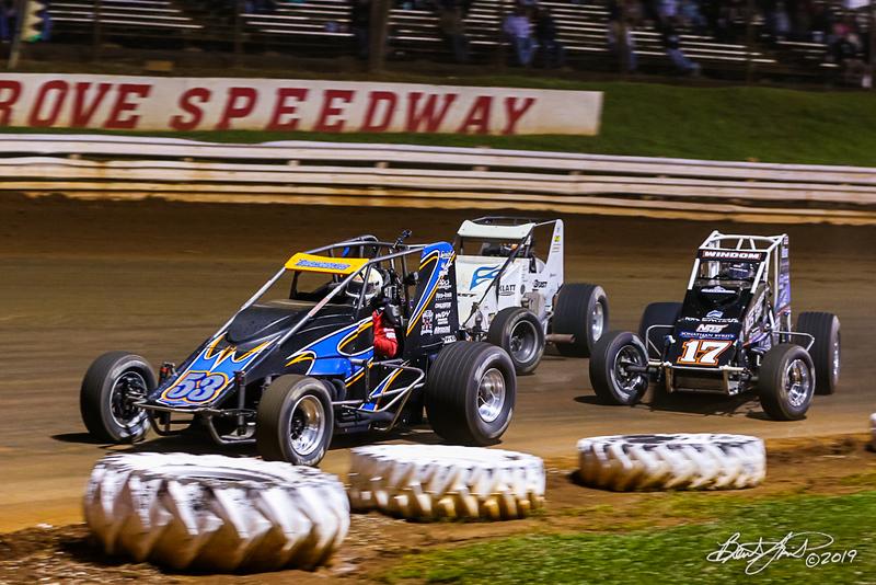 Williams Grove 100 - USAC Silver Crown Champ Car Series - Williams Grove Speedway - 53 Steve Buckwalter, 6 Brady Bacon, 17 Chris Windom
