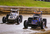 Williams Grove 100 - USAC Silver Crown Champ Car Series - Williams Grove Speedway - 53 Steve Buckwalter, 6 Brady Bacon